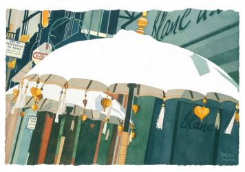 Umbrellas in San Fransisco Square, Ronda