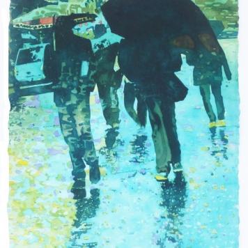 December Rain in Nurnberg
